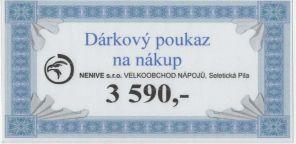 Dárkový Poukaz 3590 kč