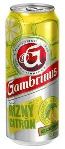 Gambrinus-Citron 0,5 PLECH