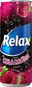 Relax Cola-Malina 12*0,33l PLECH