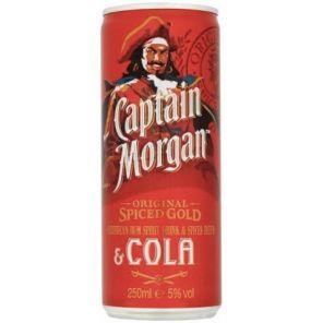 Capitan Morgan+Cola 250ml PLECH